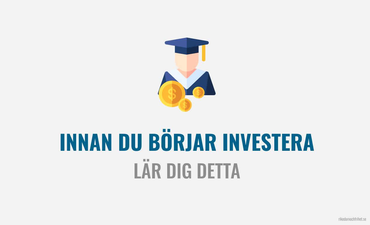 Hur ska man börja investera? Steg-för-steg