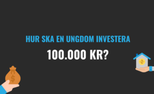 Hur ska en ungdom investera 100.000 kr?